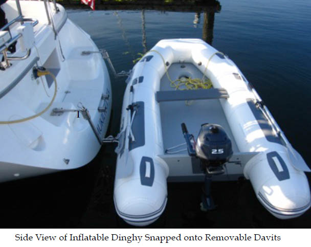 Snap Davits for Sailboat