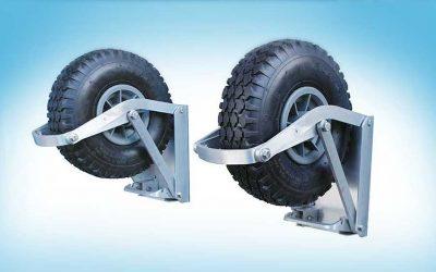 Auto locking Dinghy Launching Wheels