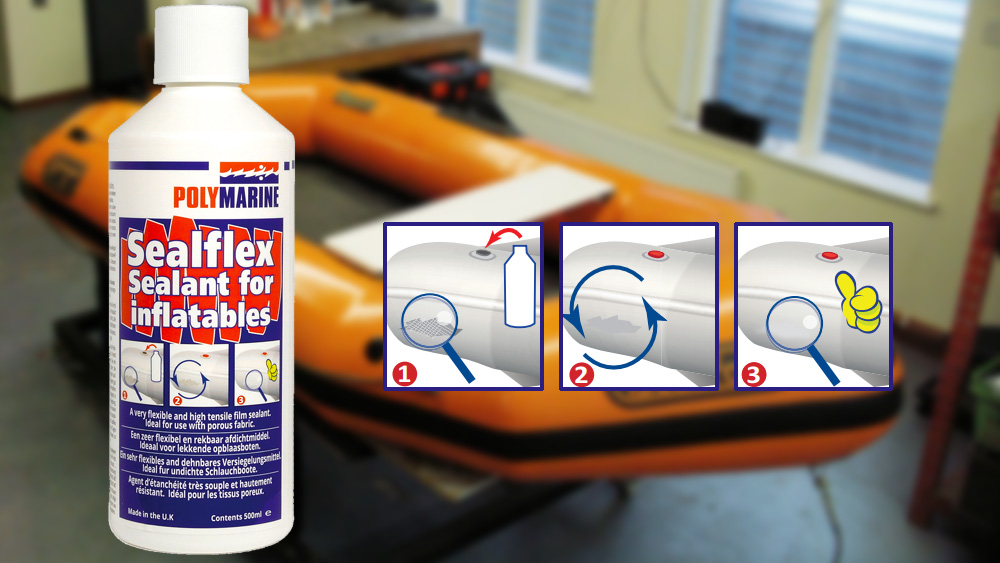 How to repair pinholes on leaky inflatable boats.